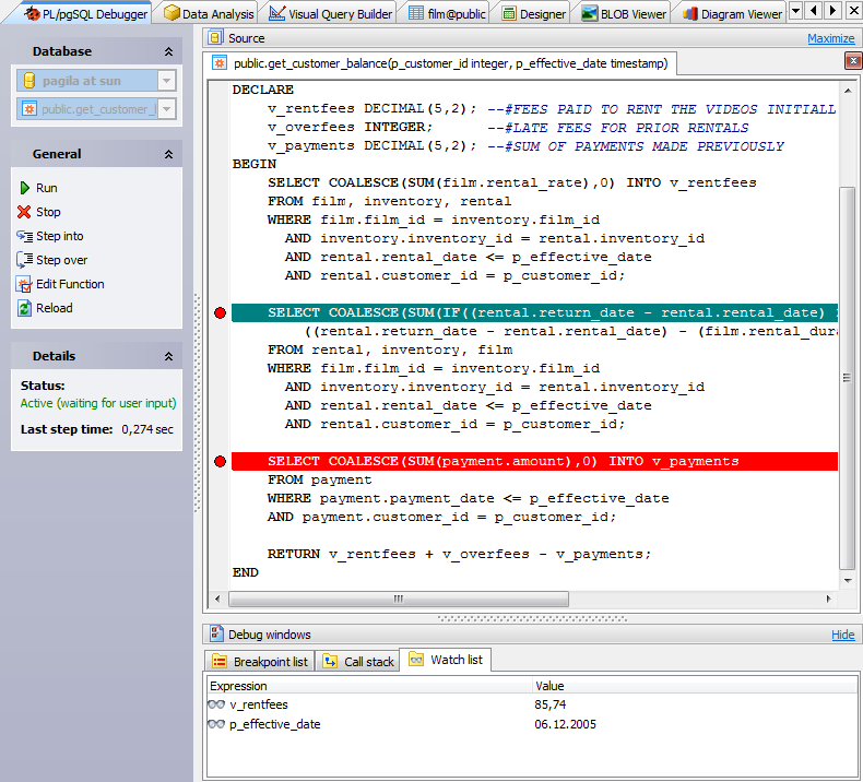 Postgresql gui admin tool postgres manager for windows by sql plpgsql debugger ccuart Image collections