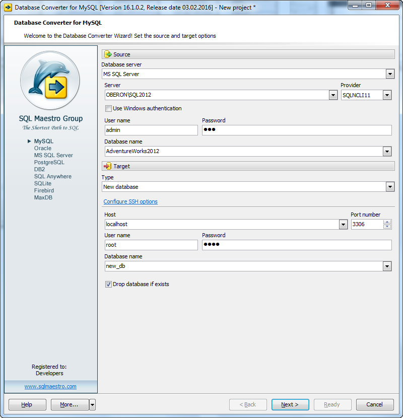 Database Converter for MySQL v16.2.0.7