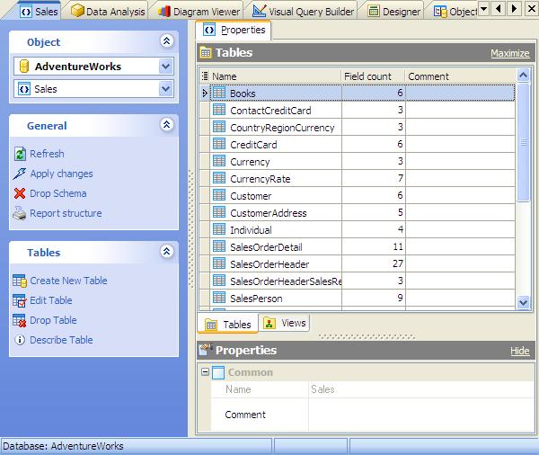 Database tools for MySQL, SQL Server, PostgreSQL, SQLite