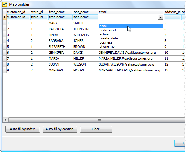 Database tools for MySQL, SQL Server, PostgreSQL, SQLite