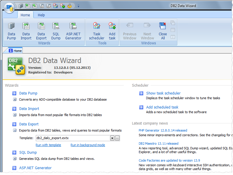 DB2 Data Wizard full screenshot