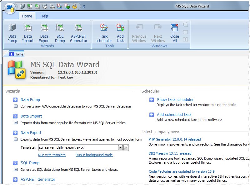 Click to view MS SQL Data Wizard screenshots