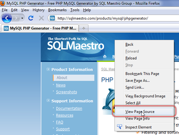 MySQL PHP Generator - PHP Code Generator and CRUD form builder by