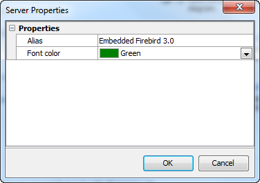 Edit Server Properties dialog