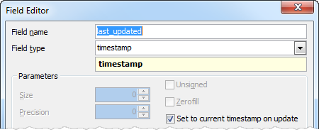 Editing a timestamp field