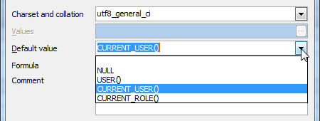 Predefined Default Values