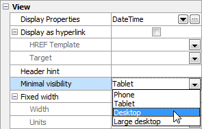 Setting column visibility