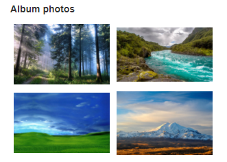 Linked Images in View form