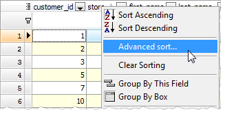 Multi-column sorting