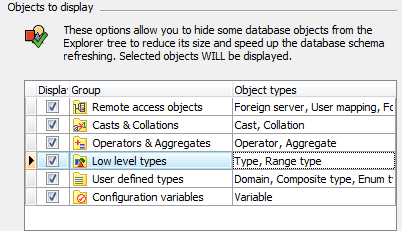 Database refresh options