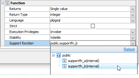 Function editor: Planner support function