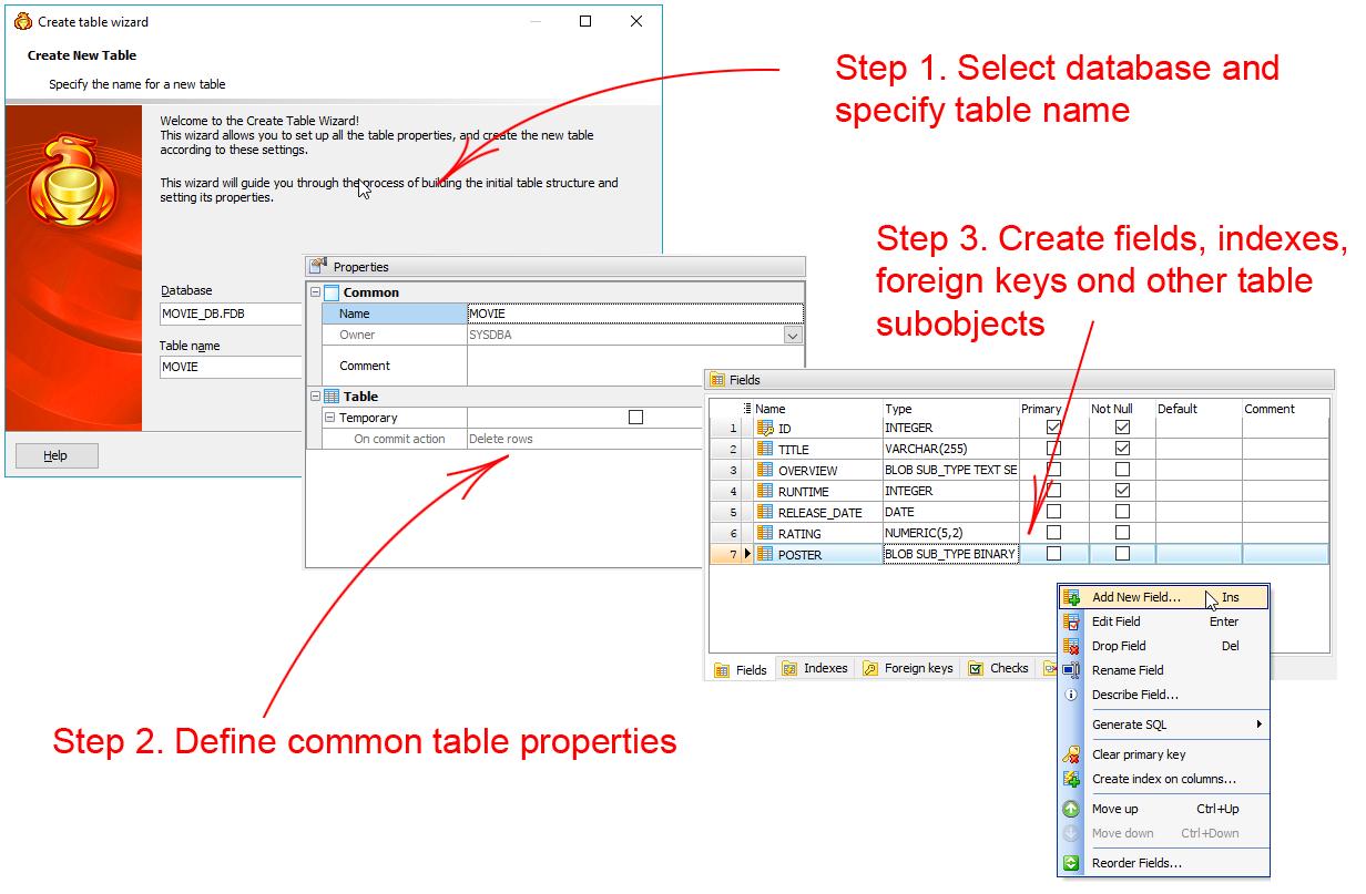 how to open firebird database