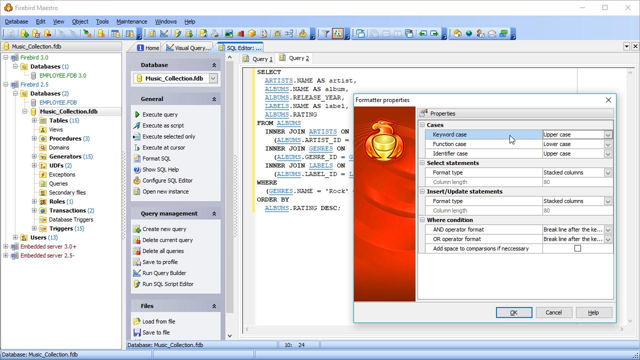 Firebird GUI Tools - Firebird database management software