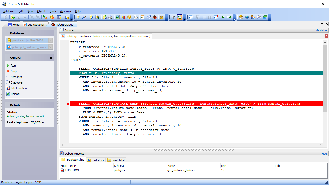 PostgreSQL GUI Admin Tool - Postgres manager for Windows by